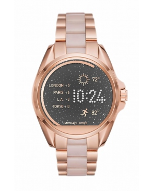 Часы Michael Kors Access Bradshaw Rose Gold-Tone And Acetate Smartwatch MKT5013