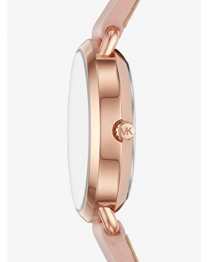 Часы Michael Kors Petite Portia Rose Gold-Tone Leather Watch MK2735