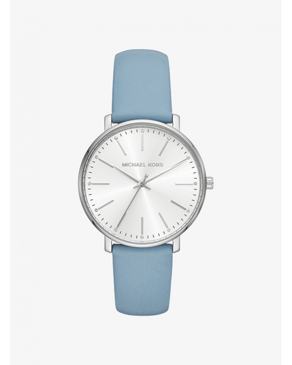 Часы Michael Kors Pyper Silver-Tone Leather Watch MK2739