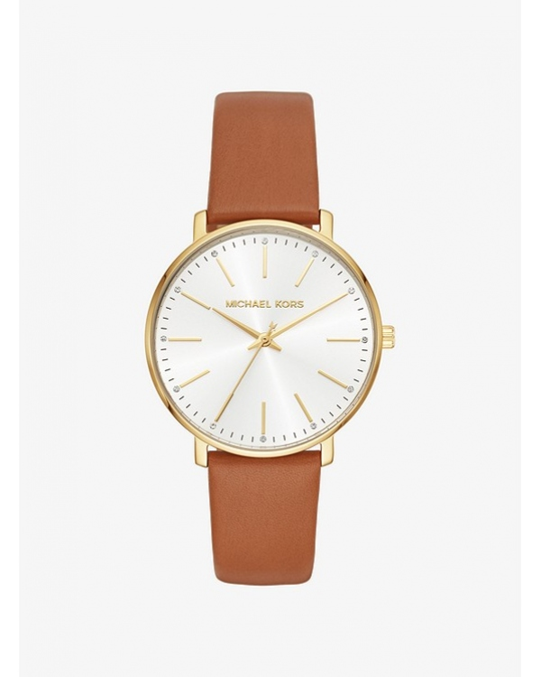 Часы Michael Kors Pyper Gold-Tone Leather Watch MK2740