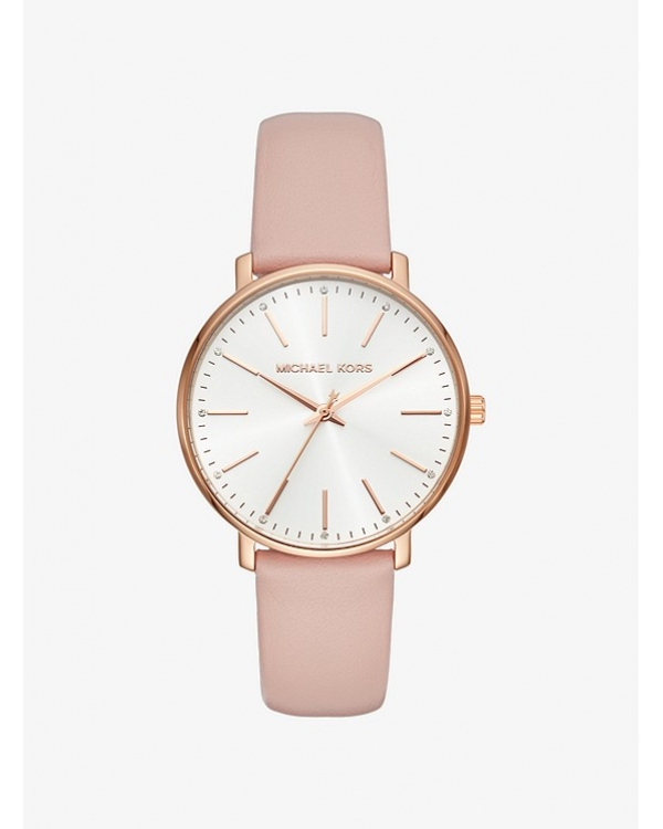 Часы Michael Kors Pyper Rose Gold-Tone Leather Watch MK2741