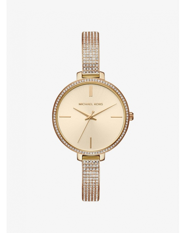 Часы Michael Kors Jaryn Pave Gold-Tone Watch MK3784