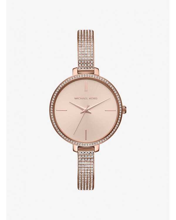 Часы Michael Kors Jaryn Pave Rose Gold-Tone Watch MK3785