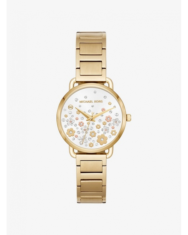 Часы Michael Kors Mini Portia Gold-Tone Watch MK3840