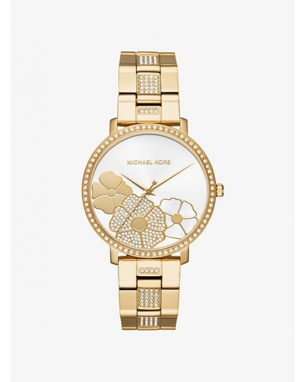 Часы Michael Kors Jaryn Pave Gold-Tone Watch MK3864
