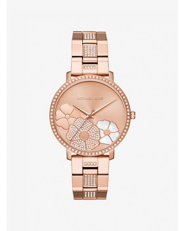 Часы Michael Kors Jaryn Pave Rose Gold-Tone Watch MK3865