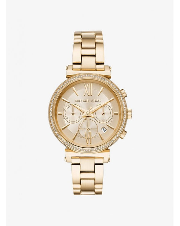 Часы Michael Kors Sofie Pave Gold-Tone Watch MK6559