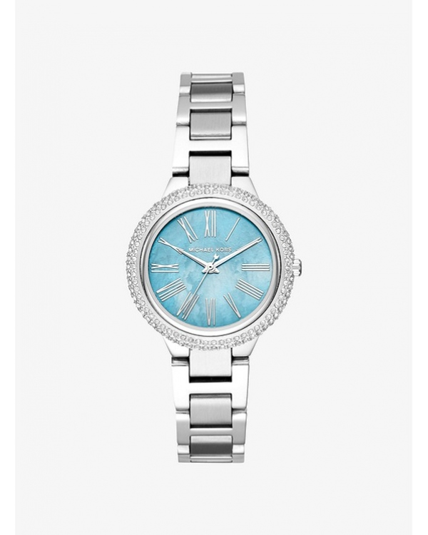 Часы Michael Kors Mini Taryn Pave Silver-Tone Watch MK6563