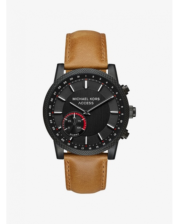 Часы Michael Kors Scout Black-Tone Leather Hybrid Smartwatch MKT4026