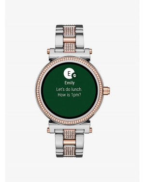 Часы Michael Kors Sofie Pave Two-Tone Smartwatch MKT5040