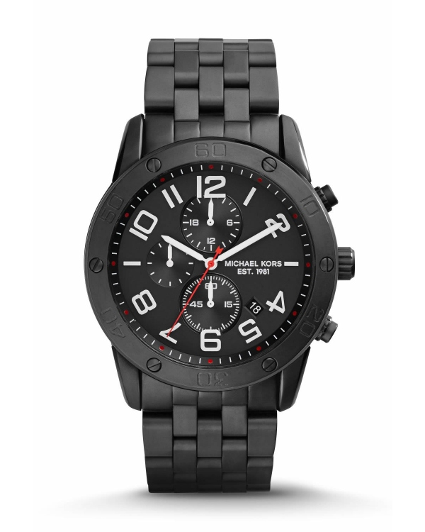 Часы Michael Kors Mercer Black Stainless Steel Watch MK8350