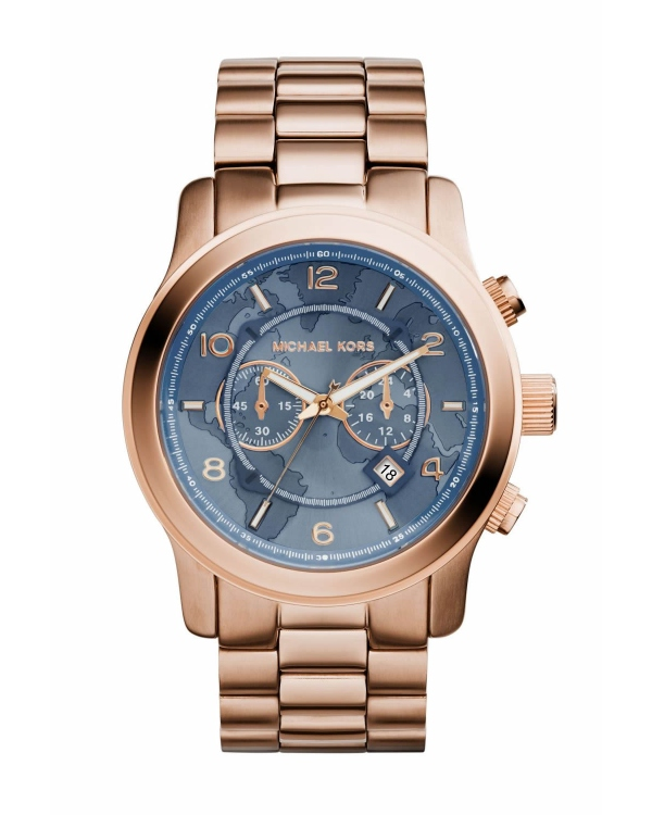 Часы Michael Kors Watch Hunger Stop Oversized Runway Rose Gold-Tone Stainless Steel Watch MK8358