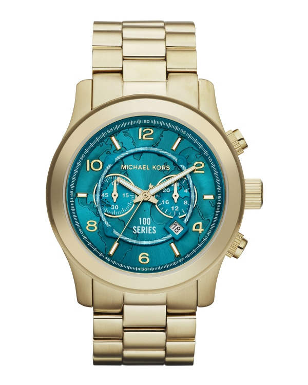 Часы Michael Kors Watch Hunger Stop Oversized 100 Series Watch Gold MK8315