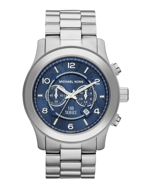 Часы Michael Kors Watch Hunger Stop Oversized 100 Series Watch Silver MK8314
