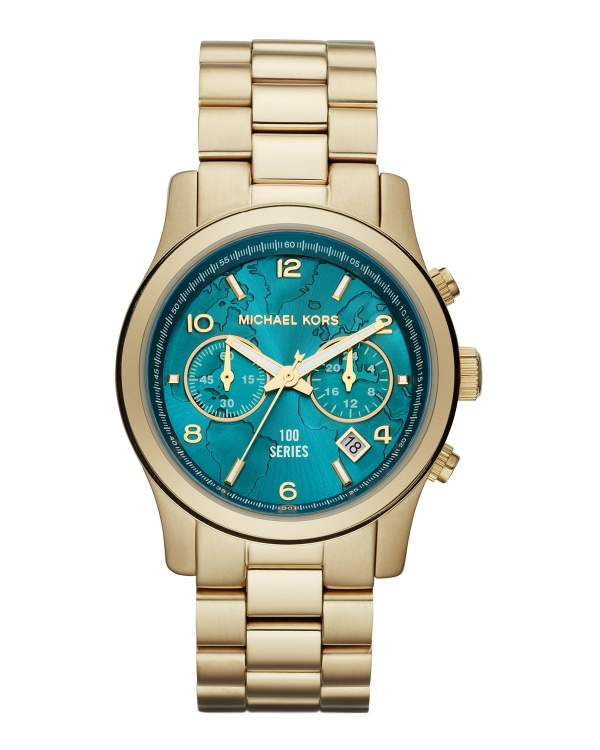 Часы Michael Kors Watch Hunger Stop Mid-Size 100 Series Watch Gold MK5815