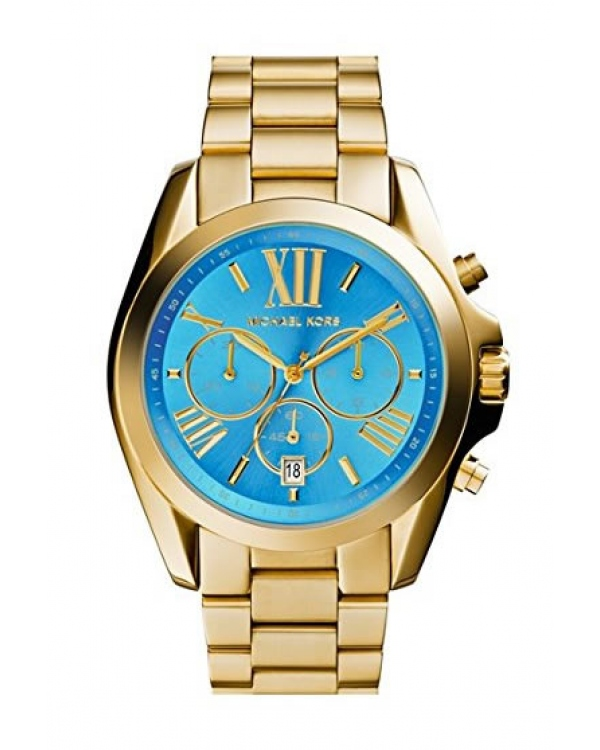 Часы Michael Kors Bradshaw Blue Dial Gold-Tone Stainless Steel Watch MK5975