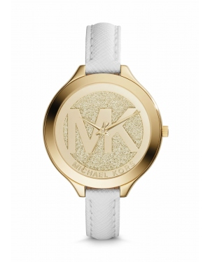 Часы Michael Kors Slim Runway Gold-Tone Leather Watch MK2389