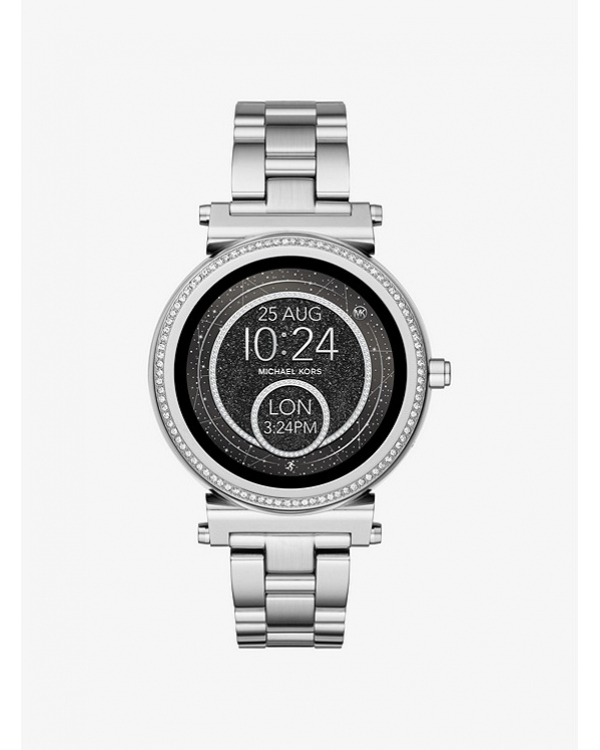 Часы Michael Kors Access Sofie Pave Silver-Tone Smartwatch MKT5020