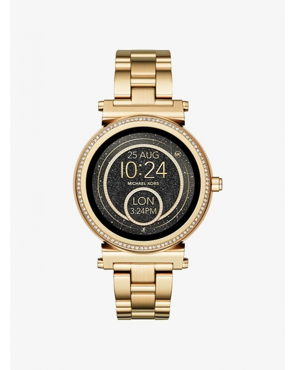 Часы Michael Kors Access Sofie Pave Gold-Tone Smartwatch MKT5021