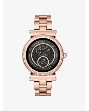 Часы Michael Kors Access Sofie Pave Rose Gold-Tone Smartwatch MKT5022