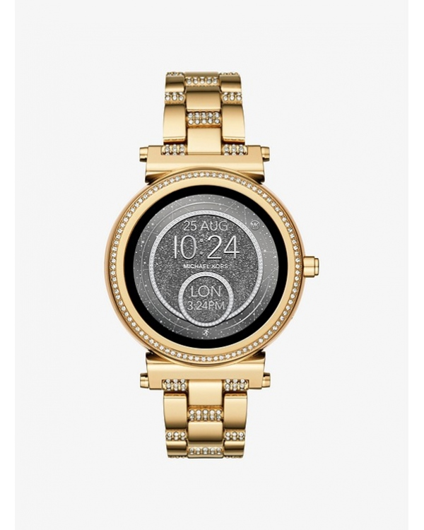 Часы Michael Kors Access Sofie Pave Gold-Tone Smartwatch MKT5023