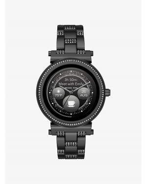 Часы Michael Kors Access Watch Hunger Stop Sofie Pave Black-Tone Smartwatch MKT5035