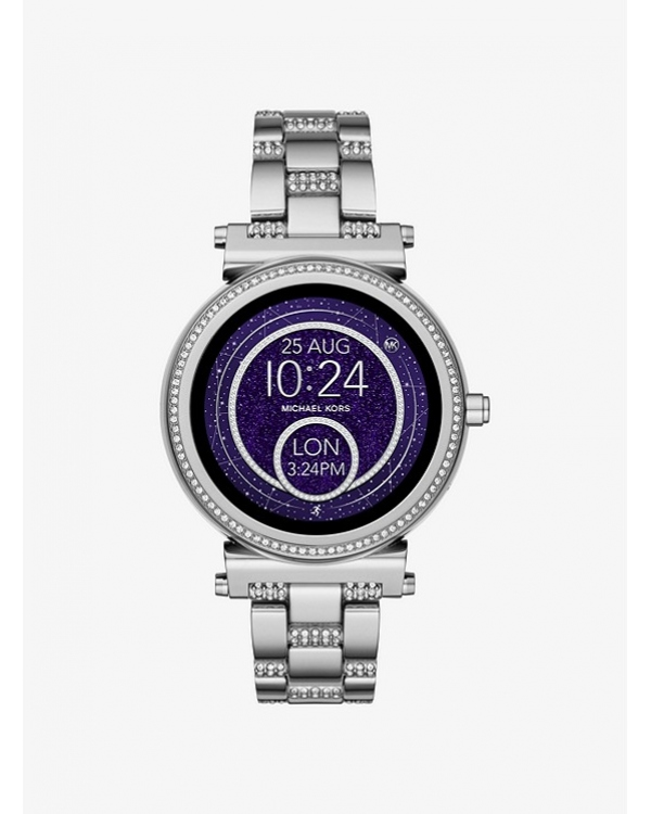 Часы Michael Kors Access Sofie Pave Silver-Tone Smartwatch MKT5036
