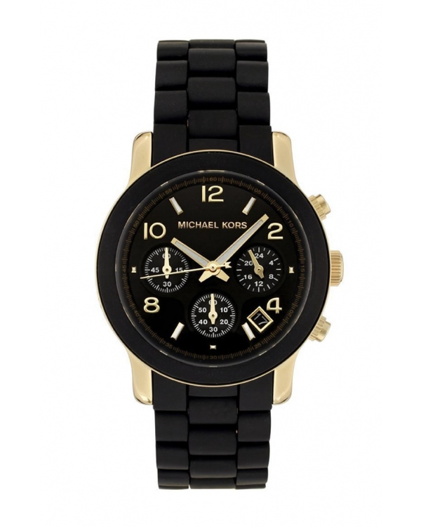 Часы Michael Kors Runway Black and Gold-Tone Stainless Steel Watch MK5191