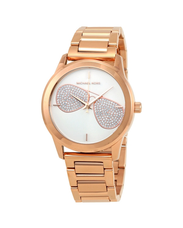 Часы Michael Kors Hartman Silver Dial Ladies Rose Gold Tone Watch MK3673