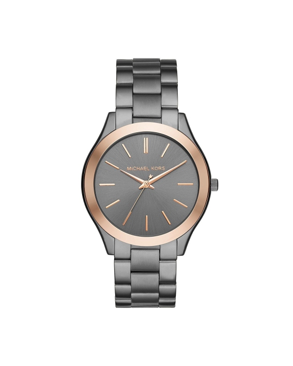 e932b7040bcb Часы Michael Kors Slim Runway Grey Dial Ladies Gunmetal Watch MK8576