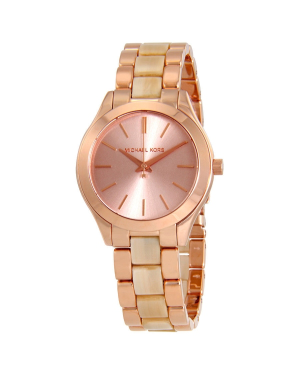Часы Michael Kors Mini Slim Runway Rose Gold Dial Ladies Watch MK3701