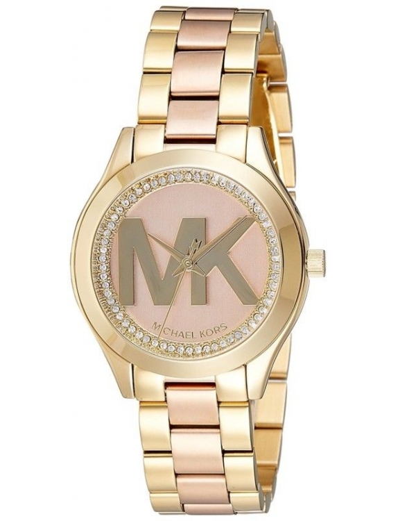 Часы Michael Kors Mini Slim Runway Rose Gold-tone Dial Ladies Watch MK3650